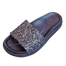 Vectry Women's <b>Summer</b> Casual Outdoor <b>Wild Flats</b> Sequin Open ...