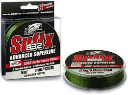 <b>Леска</b> плетеная <b>Sufix 832</b> Advanced, цвет: зеленый, длина 120 м ...