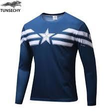 <b>2019 Marvel</b> Captain America Superhero Jersey T-Shirt <b>Men's Wear</b> ...