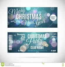 vector christmas party ticket card design template stock vector merry christmas and happy new year ticket design vector illustration royalty stock images