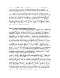 executive mba essay samples