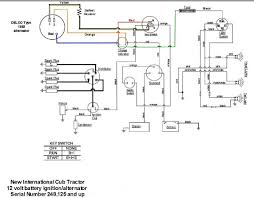 wiring diagram for key start 12 volt alternator conversion 12 volt alt and key start cub jpg
