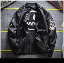 <b>Streetwear Reversible Jacket Men</b> Spring Autumn Casual Double ...