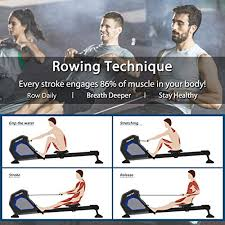 <b>Merax Magnetic</b> Exercise <b>Rower</b> Adjustable- Buy Online in Grenada ...