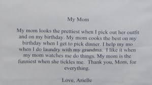 i love my mom because writing paper  i love my mom because writing paper