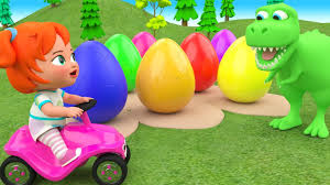 Little <b>Baby Girl</b> Fun Learning Colors for Children with Color Eggs ...