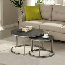 "FirsTime & Co. Hayes Silver Nesting <b>Coffee Table 2</b>-<b>Pc</b> Set - 27.5"" x ..."