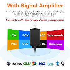 2019 Newest TV Aerial Indoor <b>HD Digital TV</b> Antenna 50 Miles ...