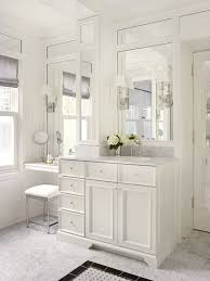 makeup vanity set with lights bathroom traditional with accent floor tile upholstered stool wall of mirrors bathroom makeup lighting