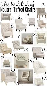 rest furniture accent pieces the ultimate list of the best neutral tufted chairs from high to low p
