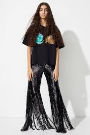 <b>Sequined mesh</b> trousers - Black - Ladies | H&M