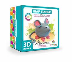 Шар-папье <b>Набор для творчества 3D</b> лепка Мышка - Акушерство ...