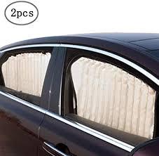 ZATOOTO <b>Car</b> Side Window Sun Shade - Beige (<b>2 Pcs</b>) <b>Magnetic</b>