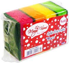 "<b>Губка</b> для мытья <b>посуды Magic</b> Home ""Макси"", 4 шт 21879, цвет ..."