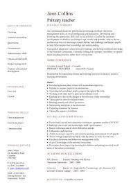 Resume Template For Teachers Teacher Resume Template Sample High