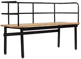 Tidyard Hallway Wooden <b>Bench</b> 2-Seater <b>120x40x70 cm Solid</b> ...