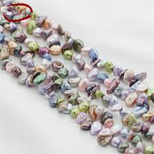 <b>5 strands</b>/package wholesale <b>natural</b> freshwater keshi reborn pearl ...