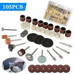 <b>105pc Rotary Tool Accessories</b> Set Electric Grinding Attachment Kit ...