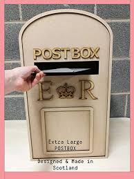 Wedding <b>Post Box</b>, Royal Mail- Flat Pack Unpainted MDF for Cards ...