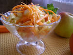 Салат из моркови с яблоком и имбирем