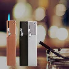 <b>Portable Metal Windproof</b> Slim Igniter Butane <b>Gas</b> Refillable ...