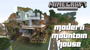 Modern Mountain House Minecraft Xbox 360 Cool Modern Mountain House Tour Youtube