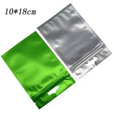 10*18cm <b>100pcs lot Matte Surface Green</b> Aluminum Foil Package ...