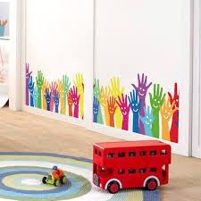 <b>Colorful Cartoon Palm Baseboard</b> Wall Sticker Pegatinas De Pared ...