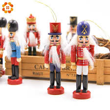 <b>1SET 12cm Wooden</b> Nutcracker Puppet Zakka Creative Desktop ...