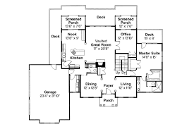 Colonial House Plans   Cobleskill     Associated DesignsColonial House Plan   Cobleskill     st Floor Plan