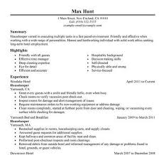 4 housekeeping resume housekeeper resumes