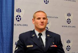 photos airman 1st class spencer stone answers question during an interview at the air force association s air
