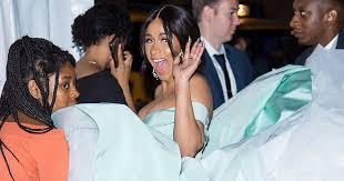 Cardi B's Diamond Ball Dress Was So Huge It Needed 4 People to ...