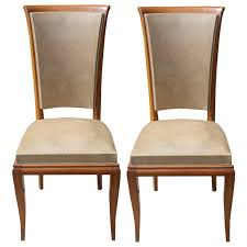 set 6 french art deco high quality dining chairs solid walnut 1 art deco dining furniture