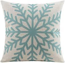 Cotton Linen <b>Scandinavian</b> Modern Geometric <b>Abstract</b> Snowflake ...