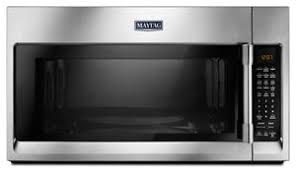 Fingerprint Resistant <b>Stainless Steel</b> Over-The-Range Microwave ...