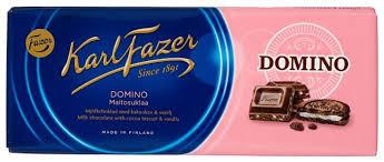 <b>Шоколад</b> Fazer молочный <b>Domino</b> с печеньем из какао и крошкой ...