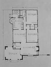 California Mission Spanish Bungalow House Plan   spanish mission bungalow