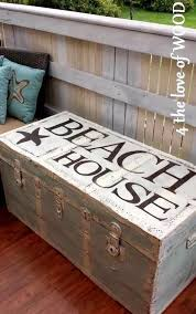 beach house trunk painted trunk makeover httpwwwcompletely beach house bedroom furniture