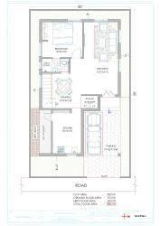 x ft site east facing duplex house plans   GharExpert x    Duplex