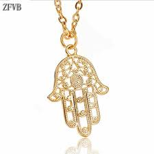 <b>ZFVB</b> Fashion Charm Women Hand <b>Pendant</b> & <b>Necklaces</b> 316L ...