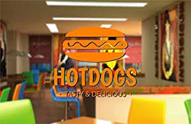 Amazon.com: Ik2454 <b>Wall Decal</b> Sticker Delicious <b>Hot Dog</b> Eatery ...