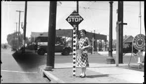Image result for vintage photo of children at stop sign