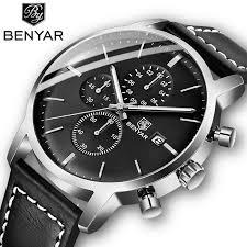 2019 New <b>BENYAR Men's Watches</b> Casual Fashion Chronograph ...