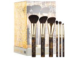 sephora x karen walker amber craft beauty brush set stand