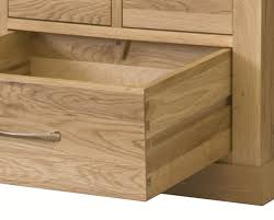 pull out drawers on the baumhaus mobel oak tv cabinet cor09b baumhaus mobel oak drawer