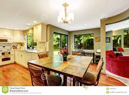 Dining Area In House With Open Floor Plan Stock Photo   Image    Dining area in house   open floor plan