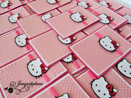 jingvitations hello kitty birthday party invites hello kitty pink invitation