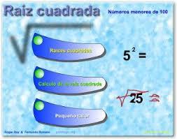 Resultado de imagen de RAIZ CUADRADA