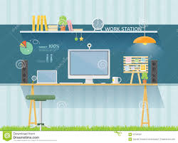 simple decoration home office work table work table stock vector image 63726056 home office work brilliant office table top stock photos images